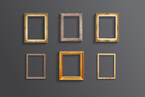 Fototapety Set of vintage classic picture wood frame,EPS vector