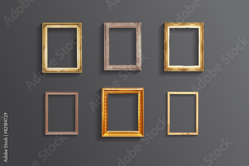Set of vintage classic picture wood frame,EPS vector - 82184729
