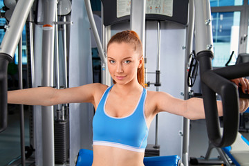 Woman doing exercising in gym