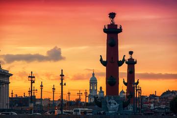 Spit of Vasilyevsky Island in Saint Petersburg