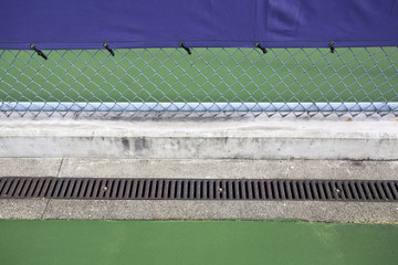Chain Link Fence on Tennis Courts