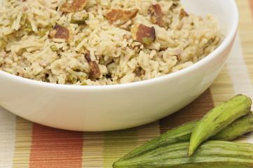 Okra Rice Casserole, Horizontal