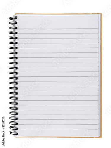 Notebook isolated on white background - 82187741