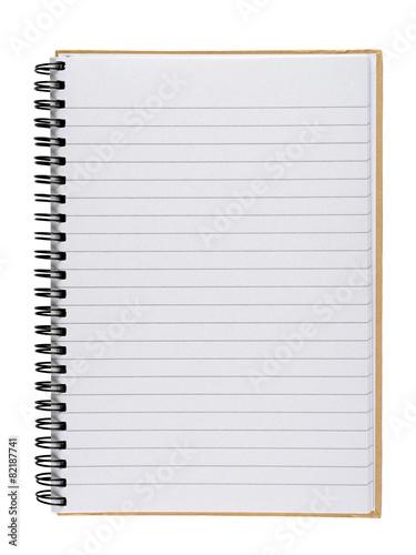 Leinwandbild Motiv Notebook isolated on white background