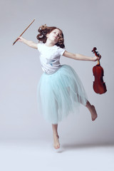 Baby girl with violin