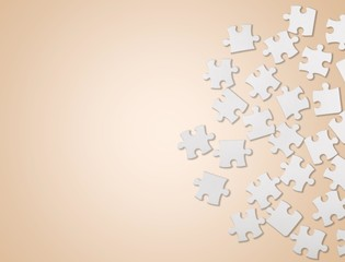 Jigsaw Piece. Difficult Puzzle