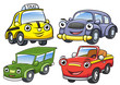 Vector illustration of cute cartoon car characters - 82189345