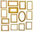 Golden picture frames - 82191188