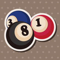 casino number ball theme elements