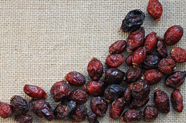 dried rosehips background herbal
