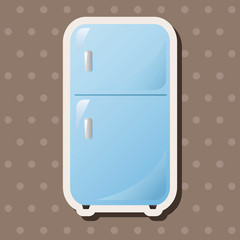 Home appliances theme refrigerator elements