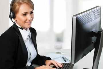 Receptionist. Cheerful Receptionist