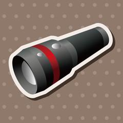camping flashlight theme elements