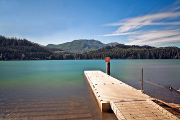 Boat Launch at a Mountain Lake