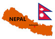 Nepal Map and Flag