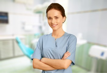 Nurse. Female Nurse in Scrubs