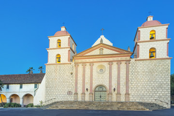 The historic buildings of Mission Santa Barbara