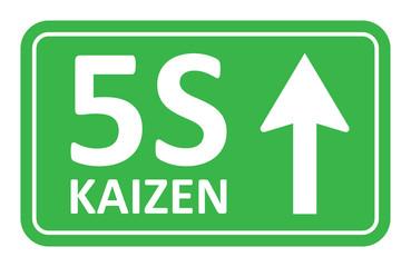 5S kaizen green signal vector