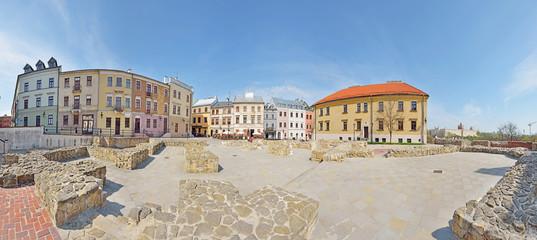 Plac po Farze w Lublinie -Stitched Panorama