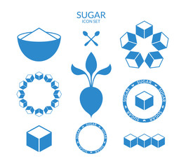 Sugar. Icon set