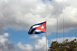 Cuban flag waving at Che Guevara Mausoleum, Santa Clara
