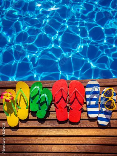 Leinwandbild Motiv Summer vacation concept