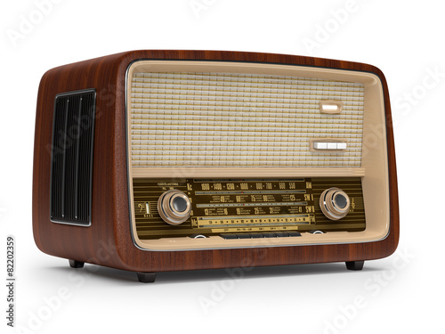Leinwandbild Motiv Vintage radio