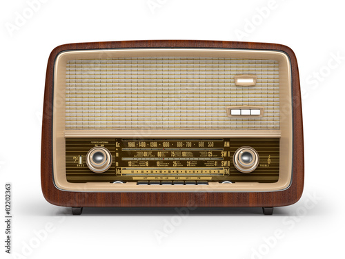 canvas print picture Vintage radio