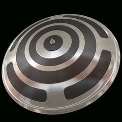 Black Silver  Shield