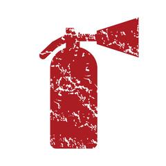 Red grunge fire extinguisher logo