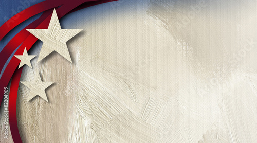 Leinwandbild Motiv American Stars Stripes abstract background