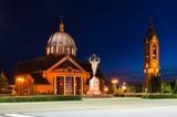 Church at night. Tychy, Poland.