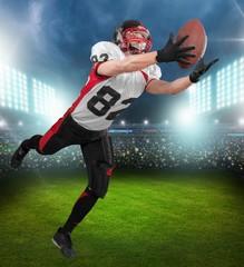 American Football. Football Catch