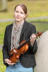 Portrait mit Geige
