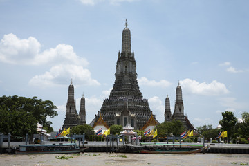 Temple of the Dawn on the Chao Phraya River