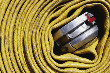 Coiled Fire Hose