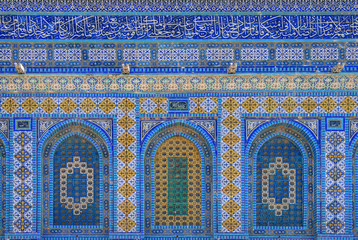 Wall With Blue Iznik Tiles