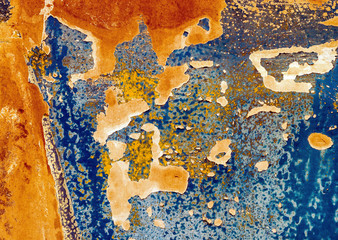 Chipped paint and rust