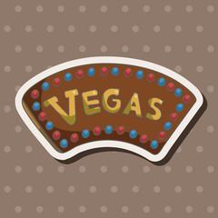 casino sign theme elements
