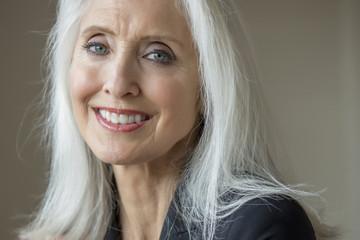 Older Caucasian businesswoman smiling