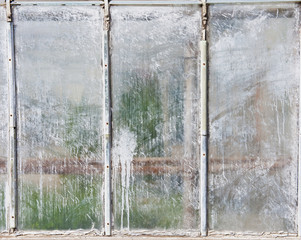 Three Whitewashed Window Panes