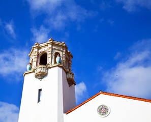Old World Building Under a Blue Sky