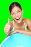 Fitness woman pilates - 82218926