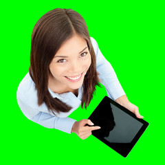 Tablet computer business woman