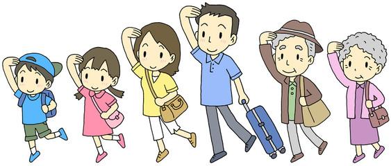 6人家族旅行
