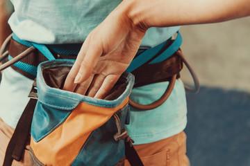 Bag of magnesia for climbing sport