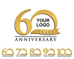 anniversary element gold logo 60-100