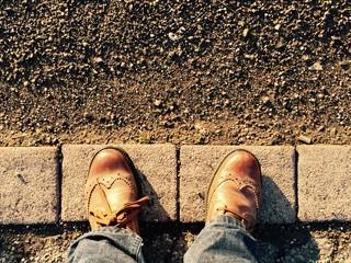 pieds sur pavés