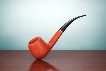 Old Style Photo. Vintage Smoking Tobacco pipe