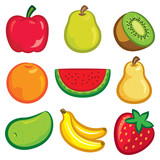 set of fruit icon